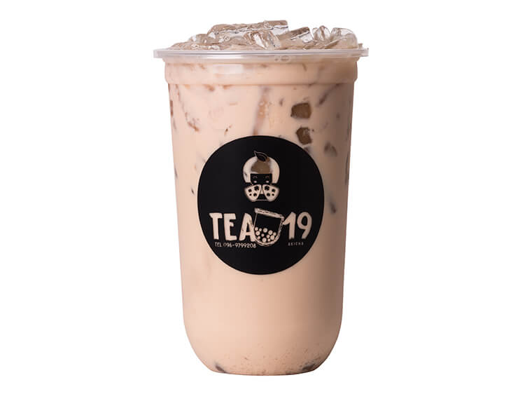 สกรีนแก้วกาแฟ ร้าน Tea19