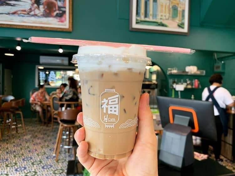 สกรีนแก้วกาแฟ ร้าน Fu Cafe