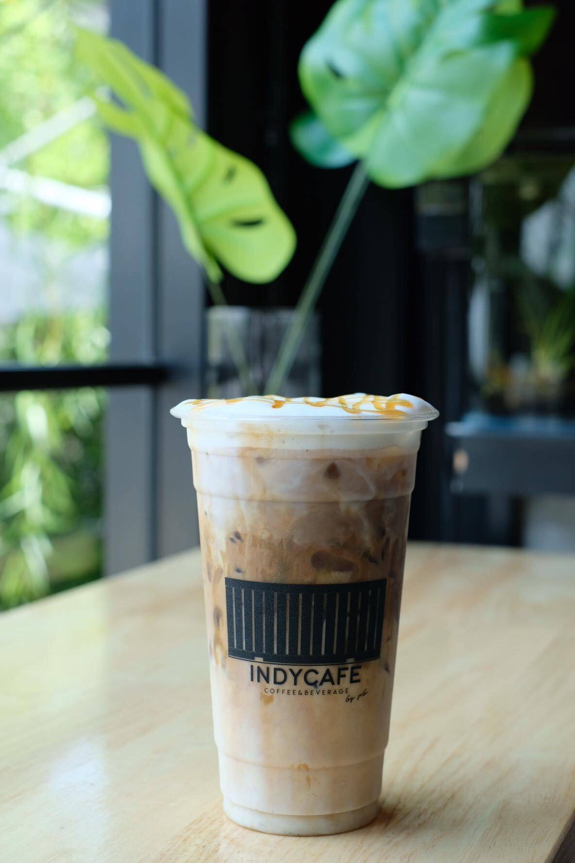 สกรีนแก้วกาแฟ ร้าน Indy Cafe