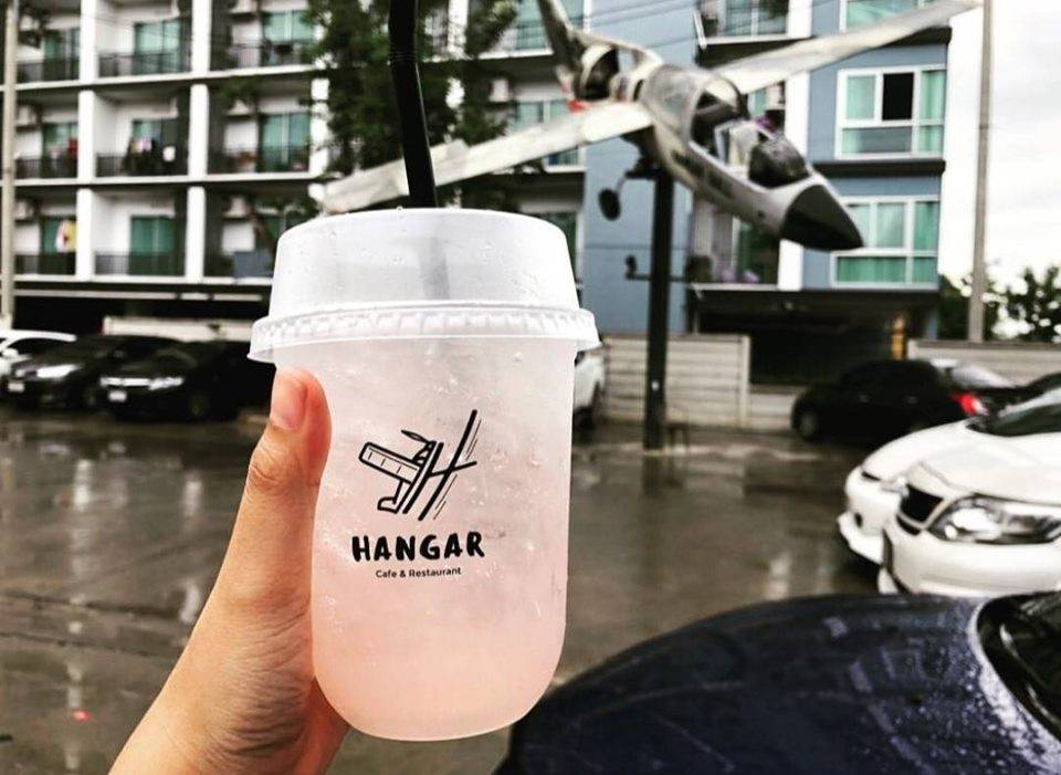 สกรีนแก้วกาแฟ ร้าน Hangar