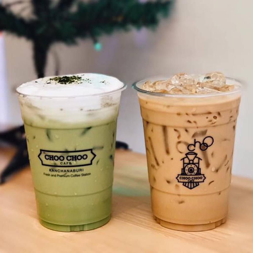 ผลงานสกรีนแก้วกาแฟ ร้าน Choo Choo